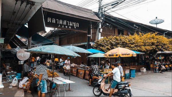 ตลาดสามชุก 100 ปี ตลาดที่เก่าแก่ เดินเที่ยวให้สบายใจ กับวัฒนธรรมไทย